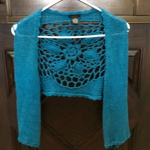 Rue 21 Unique Knitted Cropped Sweater/Shawl